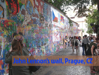 John Lennon's wall, Prague, CZ