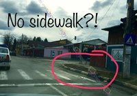 Pedestrian Crossing Without Sidewalk?!