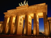 Brandenburg Gate at Dusk, Berlin, Germany