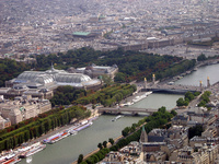A view from the top of the Eiffel Tower to the Place de Concorde