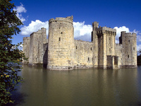 Bodiam Castle And Moat East Sussex, England