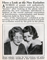 1930s - New Eyelashes