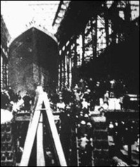 A View of the launch of The Titanic